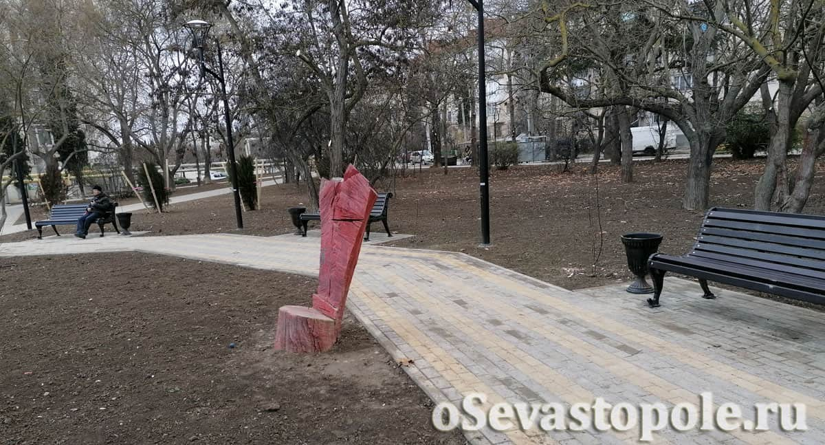 Фотография сквера курсантов Севастополя