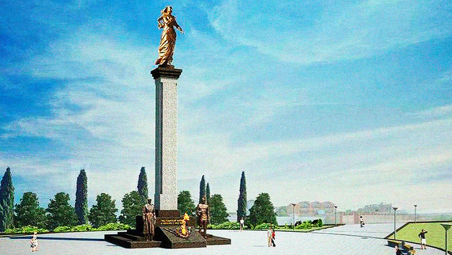 Памятник Примирения на Катерной улице в Севастополе