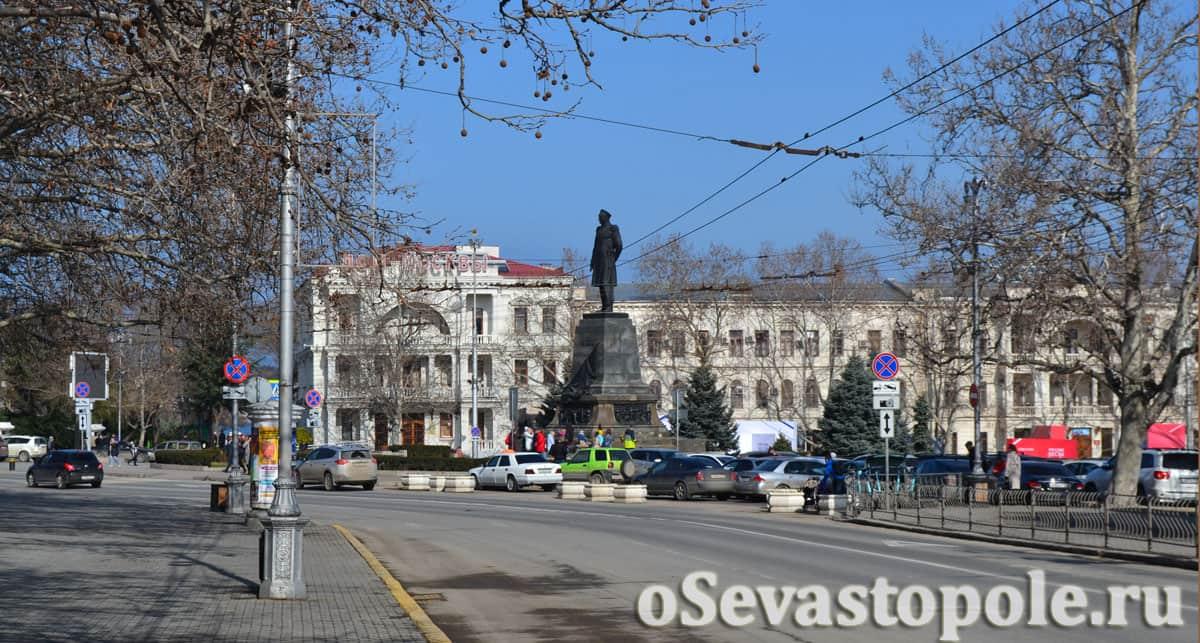 фото площади Нахимова в Севастополе