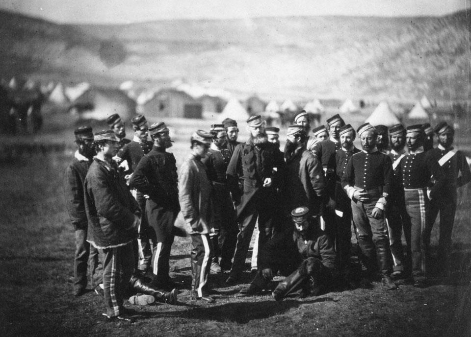 Офицеры бригады Кардигана, пережившие Балаклавскую битву.