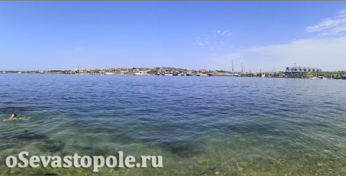 Пляж Ушакова балка Севастополь