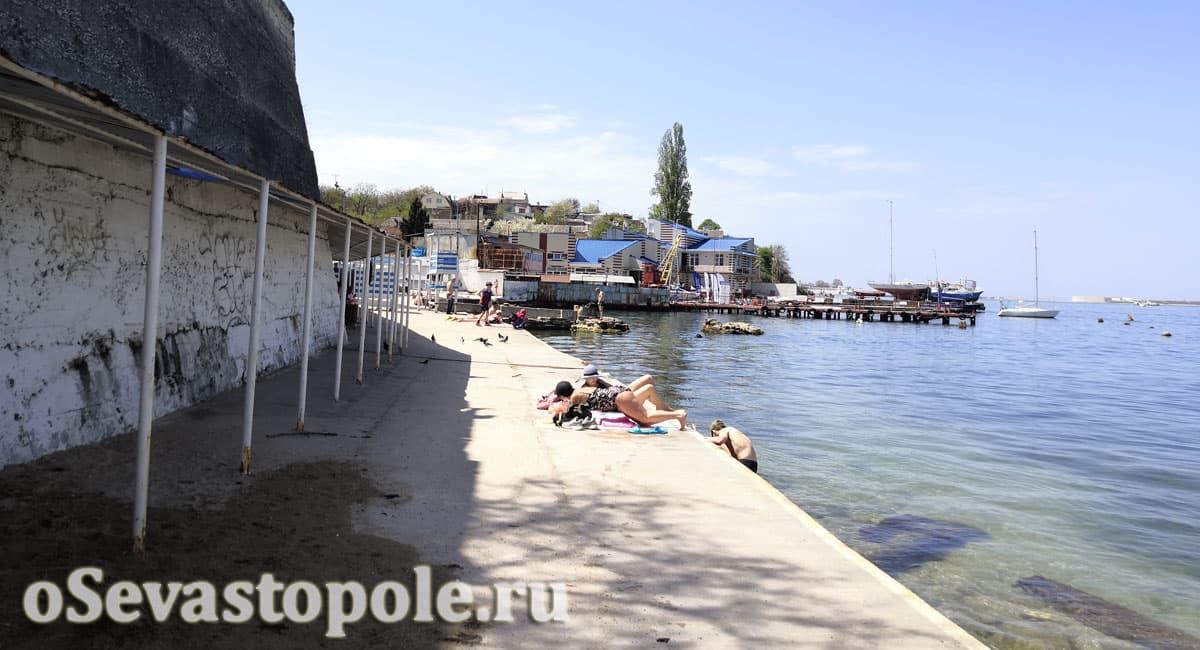 Пляж Ушакова балка в Севастополе