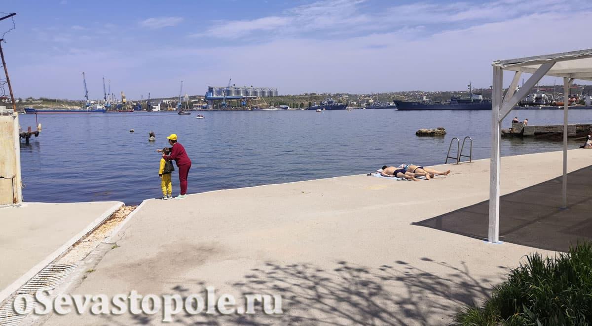 Пляж Ушакова балка