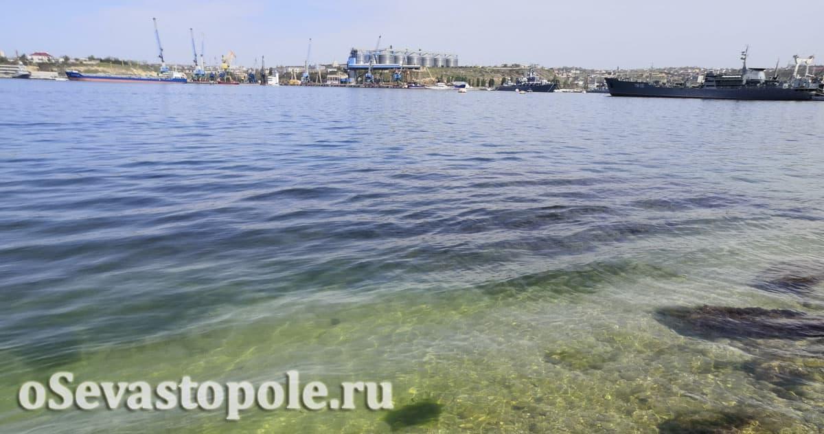 Пляж Ушаковка в Севастополе на Корабельной стороне
